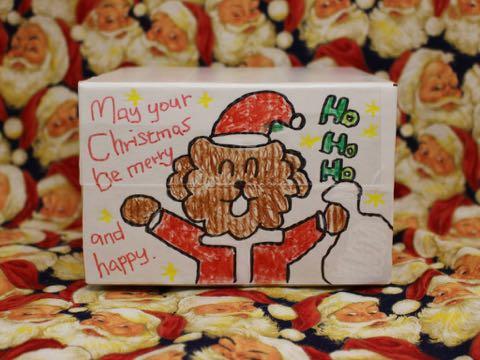 フントヒュッテ オンラインストア ボックス クリスマス イラスト サンタクロース 犬 1