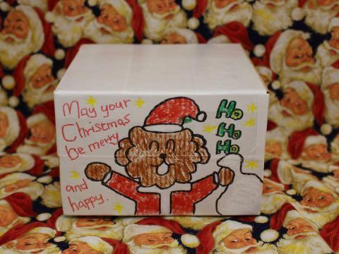 フントヒュッテ オンラインストア ボックス クリスマス イラスト サンタクロース 犬 2