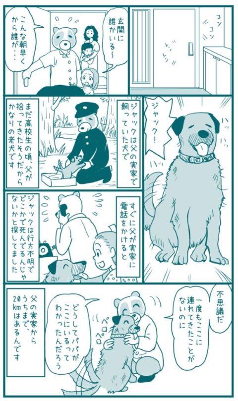 """父の実家の""""老犬""""が20キロ離れた家に来た漫画 その数週間後…「泣いてしまった」と感動の嵐_1.jpg"""