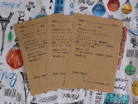 トリミング報告書 トリミングサロン フントヒュッテ 東京 文京区 犬のカット カットスタイル 画像 愛犬の健康状態 コミュニケーション 1.jpg