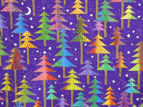 Laurel Burch ローレルバーチ デザイン クリスマス もみの木 画像 生地 柄 種類 ファブリック 写真撮影 背景 トリミングサロン フントヒュッテ ストアディスプレイ 飾り 飾り付け やり方 Merry Christmas 2018 _ 1.jpg