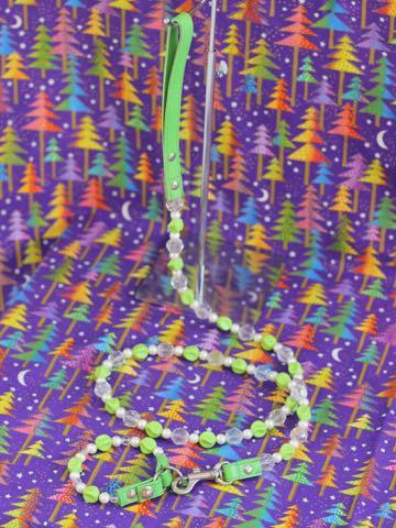 ビーズリード ビーズ首輪 ビーズカラー ビーズ首輪リードセット 画像 犬 犬用首輪 犬用リード 販売店 東京 フントヒュッテ アクリルビーズカラー&リード 4.jpg