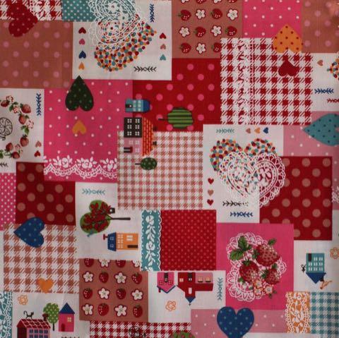 バレンタイン2019 ハート 柄 ピンク 色 生地 ファブリック かわいいプリント生地 画像 写真撮影 背景 トリミングサロン フントヒュッテ _ 1.jpg