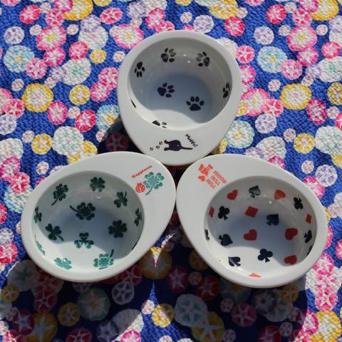 FARZEN ファーゼン フードボウル ドゥーエッグフードボウル 画像 犬用食器 日本製 MADE IN JAPAN 東京 フントヒュッテ 肉球 クローバー トランプ _ 1.jpg