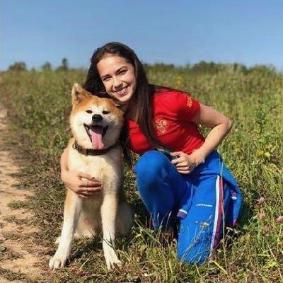 秋田犬マサル、ロシアで大人気 「そろって来日を」とザギトワ選手.jpg