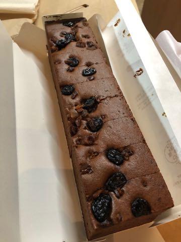 福砂屋 カステラ オランダケーキ ココア 胡桃 レーズン 画像 味 チョコカステラ バレンタイン2019 限定 1.jpg
