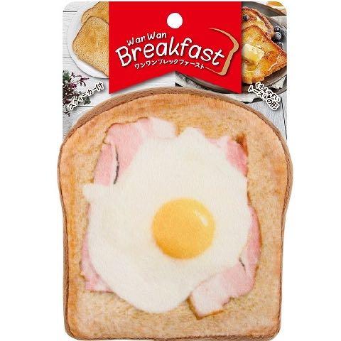 ワンワン ブレックファースト ベーカリー トースト パン 犬用おもちゃ スクィーカー フライングディスク ドッグトイ 画像 dogtoy ベーコンエッグ 1.jpg
