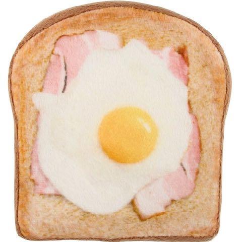 ワンワン ブレックファースト ベーカリー トースト パン 犬用おもちゃ スクィーカー フライングディスク ドッグトイ 画像 dogtoy ベーコンエッグ 2.jpg