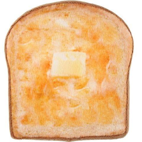 ワンワン ブレックファースト ベーカリー トースト パン 犬用おもちゃ スクィーカー フライングディスク ドッグトイ 画像 dogtoy バター 2.jpg