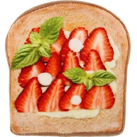 ワンワン ブレックファースト ベーカリー トースト パン 犬用おもちゃ スクィーカー フライングディスク ドッグトイ 画像 dogtoy ストロベリー 2.jpg