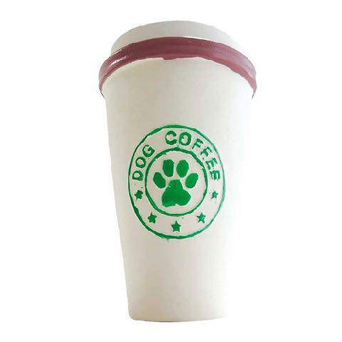 dogcafe ティーブレイク コーヒータンブラー ドーナツ クッキー 犬用おもちゃ ラテックス スクイーカー ドッグトイ 画像 dogtoy _ 4.jpg
