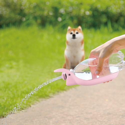 Richell リッチェル お散歩ハンディシャワー おさんぽ 給水 水分補給 犬食事関連 水飲み おしっこ跡のシャワーに 画像 M ライトピンク _ 通販2.jpg