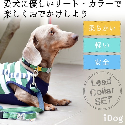 犬 首輪 リード iDog アイドッグ リード・カラーセット スター×ツートンデニム #犬 #首輪 #リード #iDog #アイドッグ リード・カラーセット スター×ツートンデニム _ 通販2.jpg