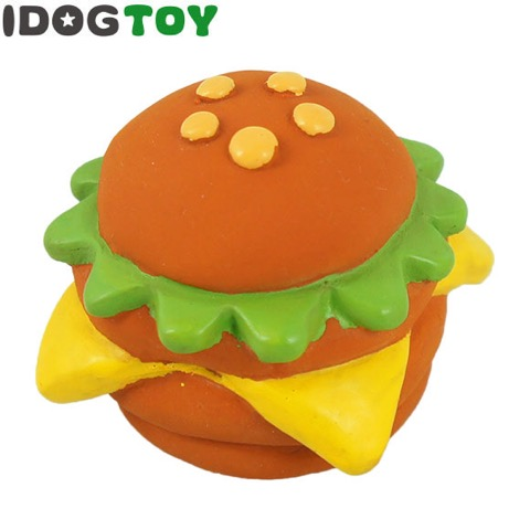 iDog&iCat アイドッグアイキャット ラテックスTOY 犬のおもちゃ 東京 フントヒュッテ 画像 ビッグなハンバーガーラテックスTOY _ 2.jpg