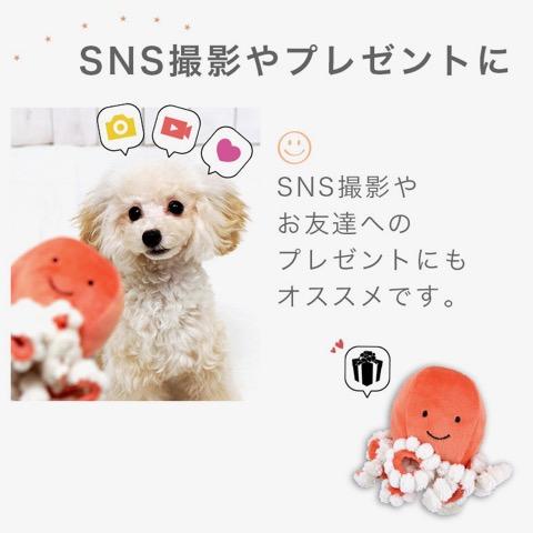 iDog&iCat アイドッグアイキャット iToy ペット用布製おもちゃ 画像 犬用おもちゃ にょろにょろタコさん _ 7.jpg