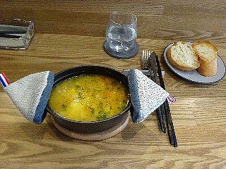 たらとじゃがいものスープ サフラン風味
