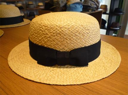 NAMIKI_ラフィアカンカン帽�