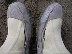 壊れたブーツ