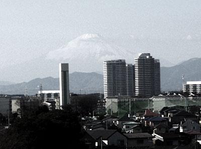 横浜からみた富士山