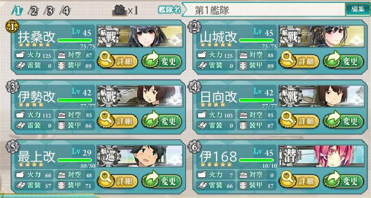 艦これ航戦・航巡・潜水艦