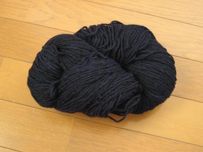 紺のアラン糸