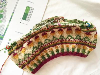 Knit nightのKAL進行中