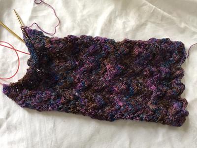 ストール編みはじめ