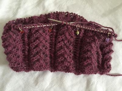 Victorian Cozy編みかけ