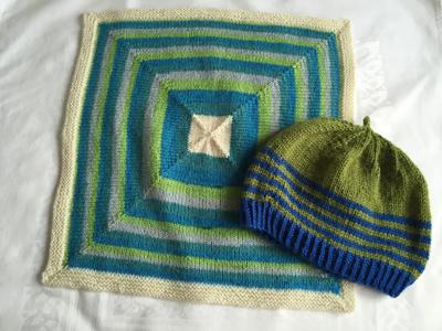 毛布と帽子