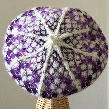 Argyle Beret Purple