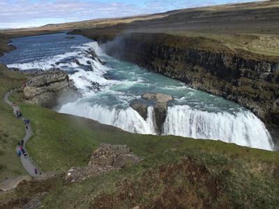 Gullfossの滝