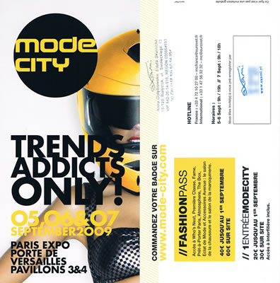 Pass for Exhibit in Paris for Mode City Fashion Trade