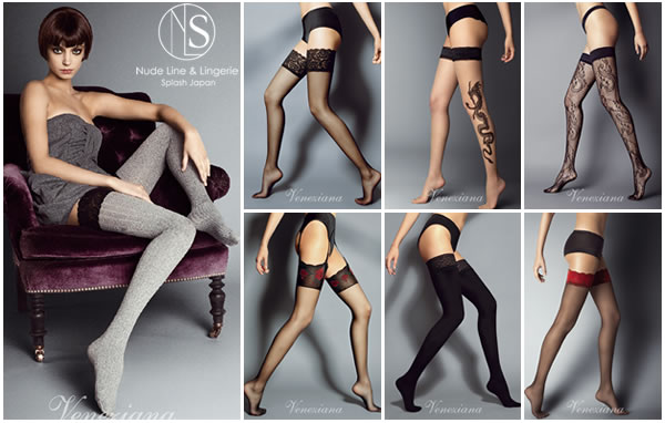 Veneziana Garter stocking