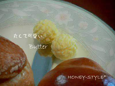 丸くて可愛いバター