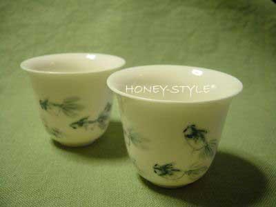 阿里山茶坊の金魚茶杯