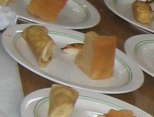 だんご粉のクレープと紅茶のシフォンケーキも作りました