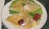 米粉のクレープ イチゴジャム シーチキンのマヨネーズ