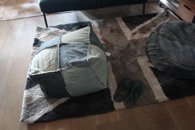 ユニオンジャックのカーペット