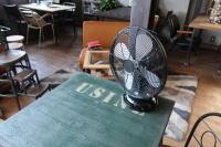 ブラック扇風機
