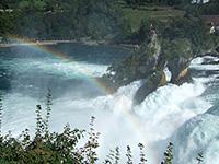 ラインの滝の虹