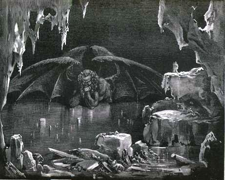 ギュスターヴ・ドレによる『コキュートス(氷地獄)のルシフェル