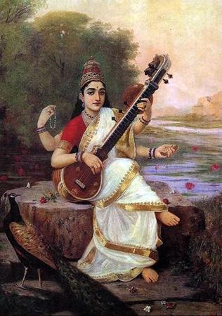 "Ravi Varma""Saraswati"""