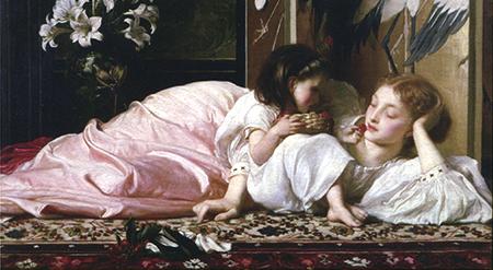 フレデリック・レイトン《母と子(さくらんぼ)》