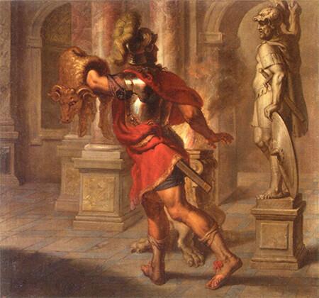 エラスムス・クエリヌス《金の羊毛を手にするイアソン》