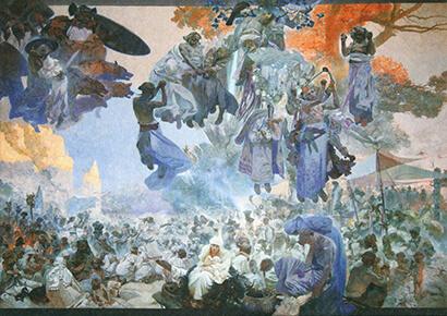 ミュシャ《ルヤーナ島でのスヴァントヴィート祭》