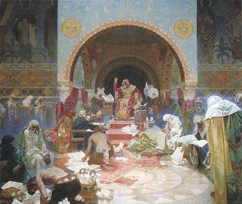 ミュシャ《ブルガリア皇帝シメオン1世》