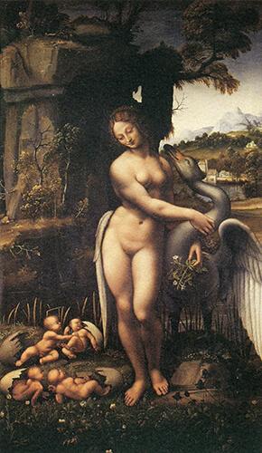 レオナルド・ダ・ヴィンチに基づく《レダと白鳥》