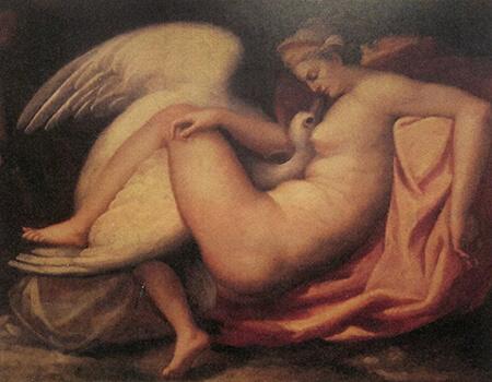 フランチェスコ・フリーナ(帰属)《レダと白鳥(失われたミケランジェロ作品に基づく)》