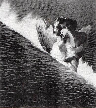 岡上淑子《海のレダ》1952