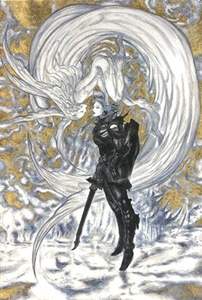天野喜孝《ファイナルファンタジー�� 嵐神と冒険者》